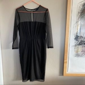 French Connection Polka Dot Lace Dress